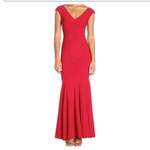 Betsy & Adam Red Mermaid Dress